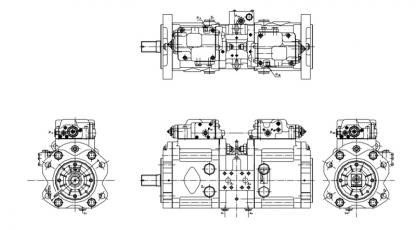 Kawasaki K3V11DT hidraulika szivattyúk
